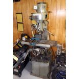 VERTICAL TURRET MILL, TOOLS, INC. (TAI CHIN), pwr. long. table feed, spds: 190-3180 RPM, S/N N.A. (