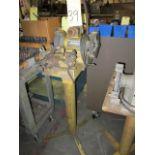 DRILL SHARPENER, DAREX, 1/3 HP, on pedestal stand, S/N 56825