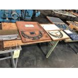 """LOT CONSISTING OF: (1) 2"""" to 25"""" I.D. micrometer set, (1) Starrett 9"""" to 12"""" O.D. micrometer set, ("""