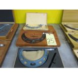 """LOT OF O.D. MICROMETERS (3), 6"""" to 7"""" & (2) 5"""" to 6"""""""