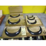 """LOT OF BLADE MICROMETERS (7), 3 to 4"""" thru 9"""" to 10"""""""