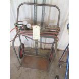 LOT CONSISTING OF: torch cart, w/gauges & torch heads (no bottles)