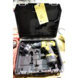 CORDLESS DRILL, DEWALT, 12 v., w/(2) batteries