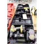 CORDLESS DRILL, DEWALT, 18 v., w/charger & (2) batteries