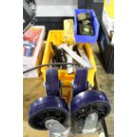 LOT CONSISTING OF: casters & wrenches
