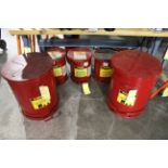 LOT OF OILY RAG WASTE CANS: (3) 6 gal. & (2) 21 gal.