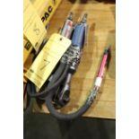 "LOT CONSISTING OF: (2) 3/8"" drive air ratchets & (1) pneumatic pencil grinder"