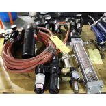 LOT CONSISTING OF: air regulators, oilers & water separator