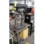 BENCH TOP DRILL PRESS, DELTA, 1/3 HP motor, w/cart