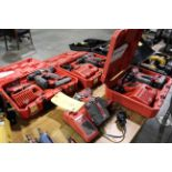LOT OF CORDLESS DRILLS (4), MILWAUKEE, 18 v. lithium, w/charger & (2) batteries