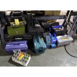 LOT OF TOOLBOXES, assorted