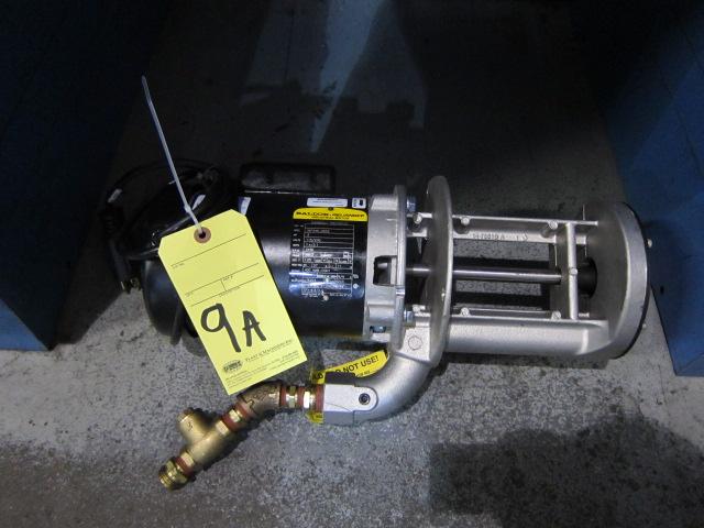 Lot 9A - ELECTRIC PUMP, BALDOR, 1/2 HP, sgl. phase