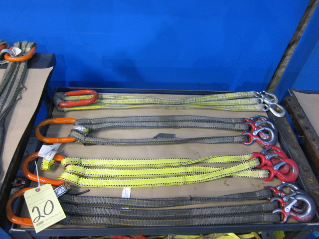 Lot 20 - LOT OF NYLON BRIDLES (4), 3', 3-leg