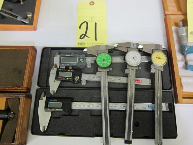 """Lot 21 - LOT OF CALIPERS (6), 6"""", assorted"""