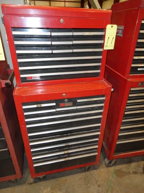 Lot 11 - ROLL AROUND TOOLBOX, CRAFTSMAN, 25-drawer