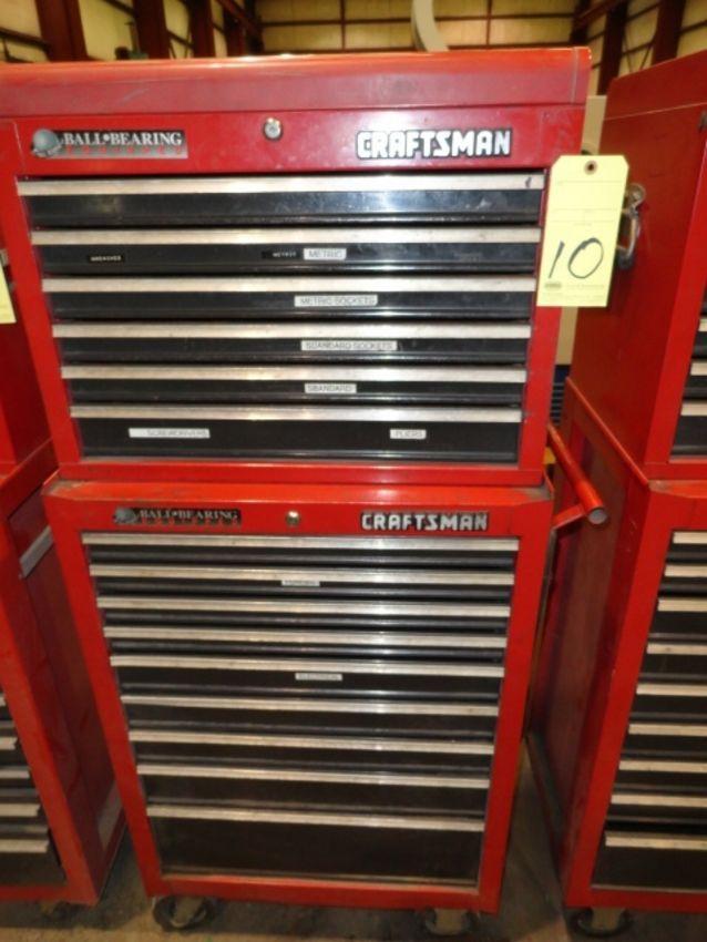 Lot 10 - ROLL AROUND TOOLBOX, CRAFTSMAN, 15-drawer