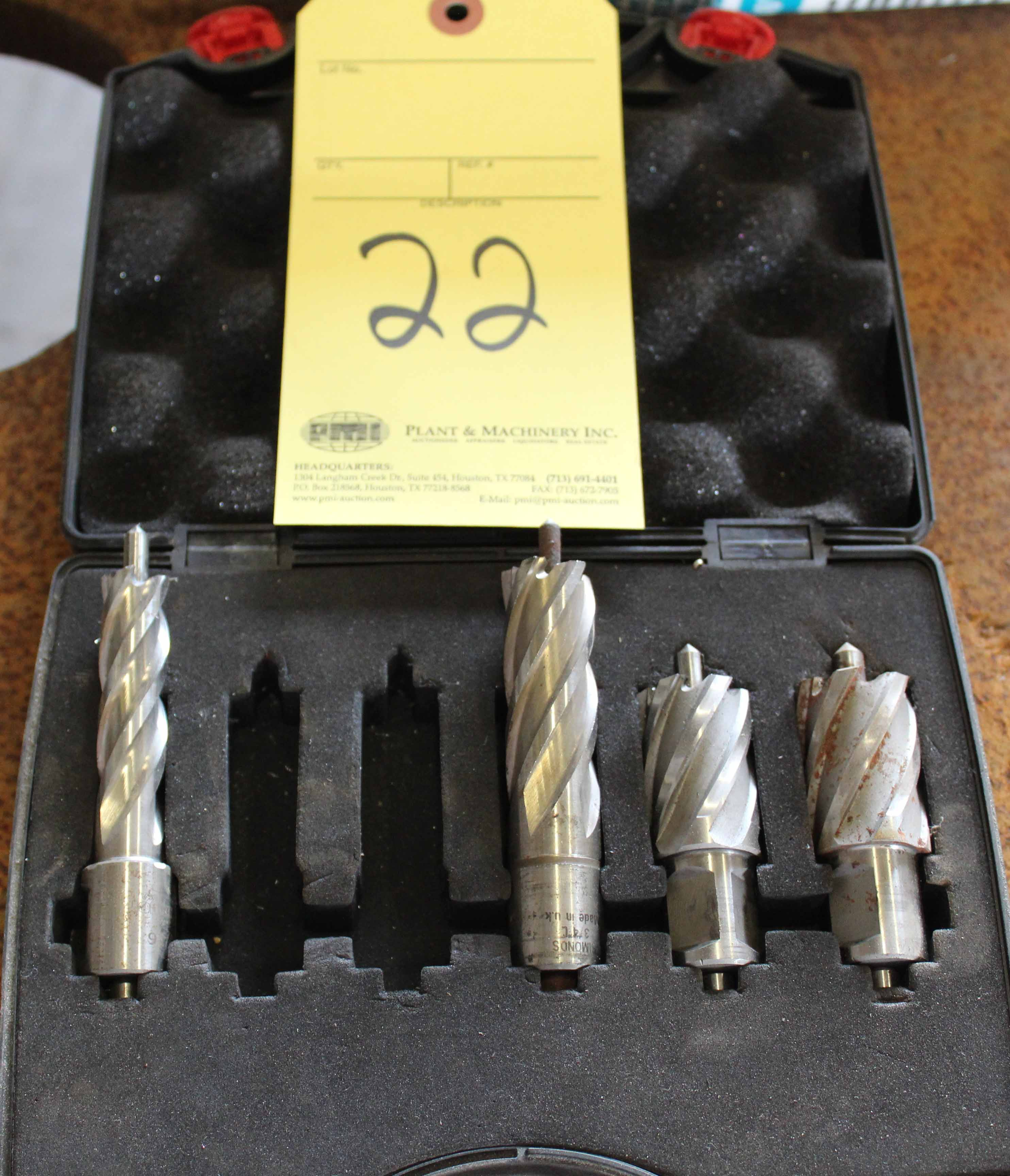 Lot 22 - LOT OF ANNULAR CUTTER BITS