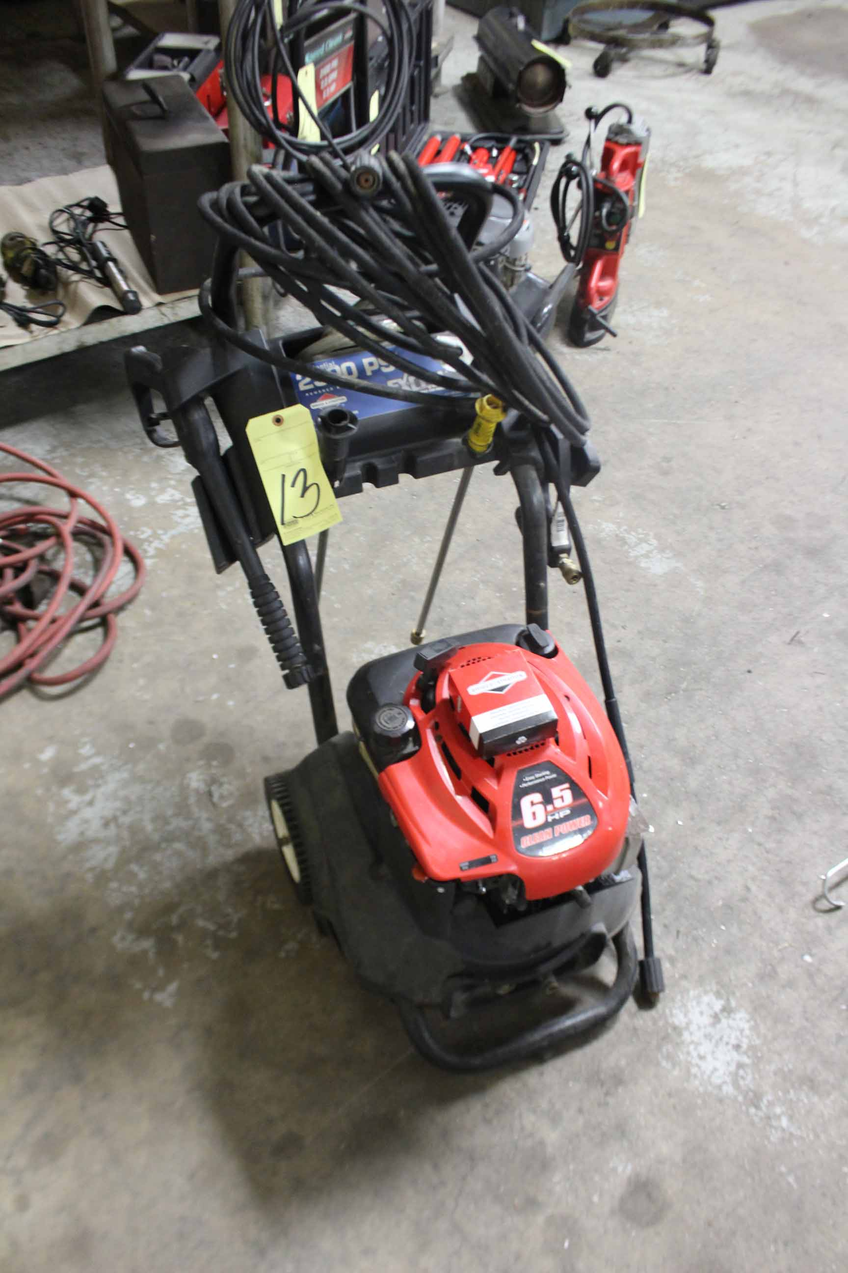 Lot 13 - POWER WASHER, EXCELL, BRIGGS & STRATTON ENGINE, 65 HP motor, 2,500 PSI