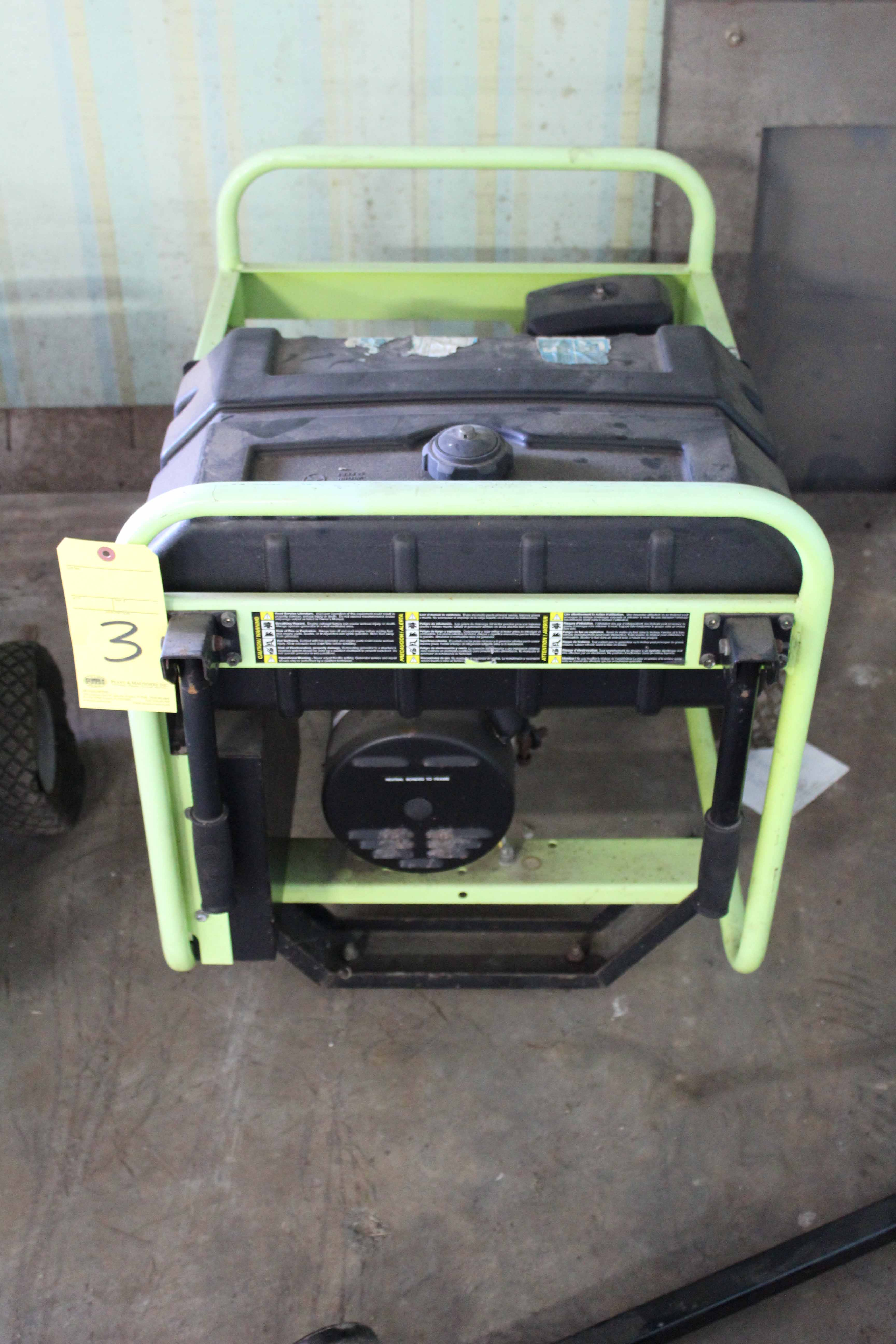 Lot 3 - PORTABLE GENERATOR, PRAMAC, 5,000 watt, gasoline pwrd.
