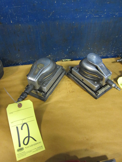 Lot 12 - LOT OF PNEUMATIC PALM SANDERS (2)