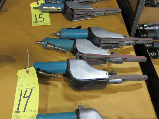 Lot 14 - LOT OF PNEUMATIC BELT SANDERS (3), 1/2""