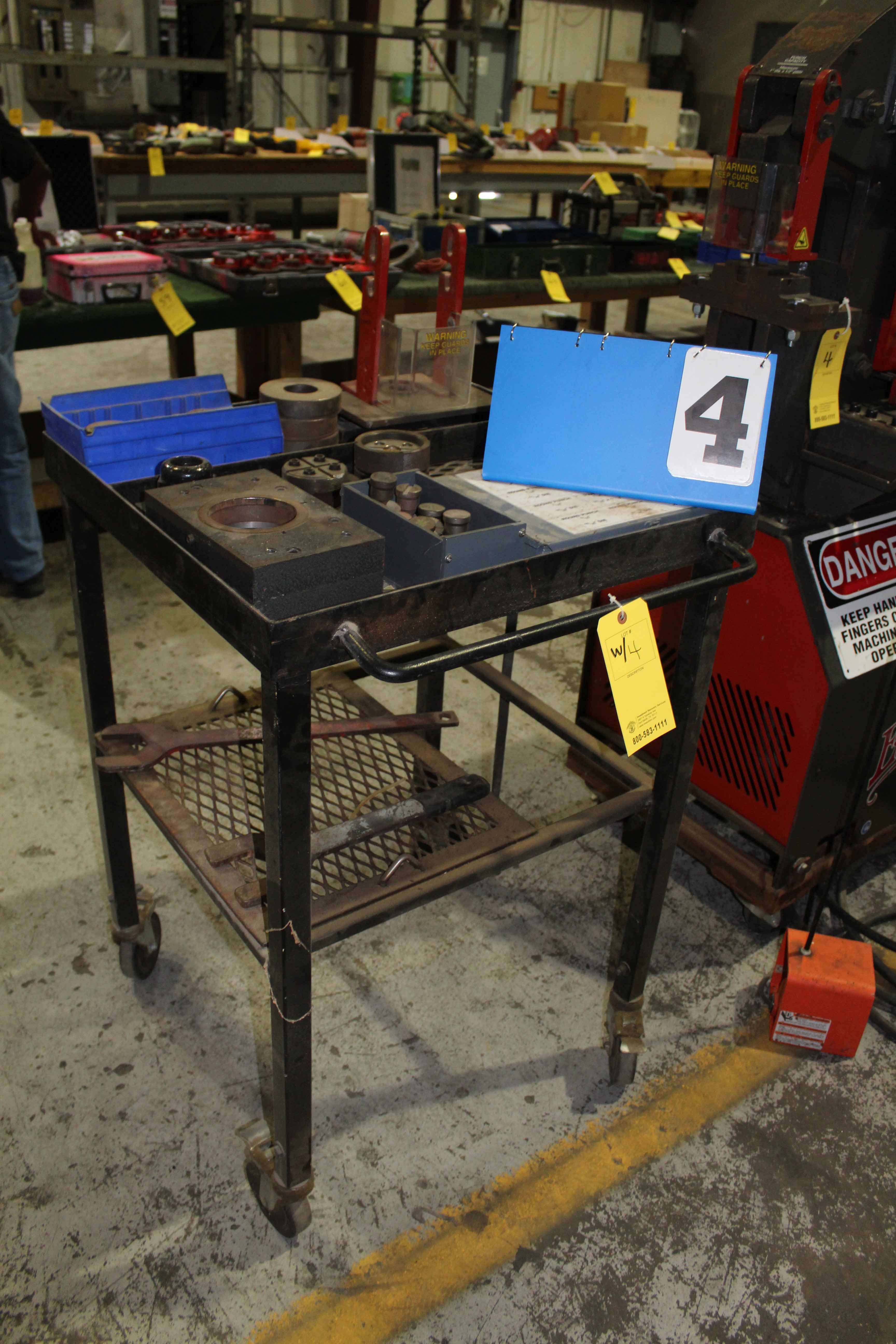 Lot 4 - IRONWORKER, EDWARDS 40 T. CAP, w/tooling