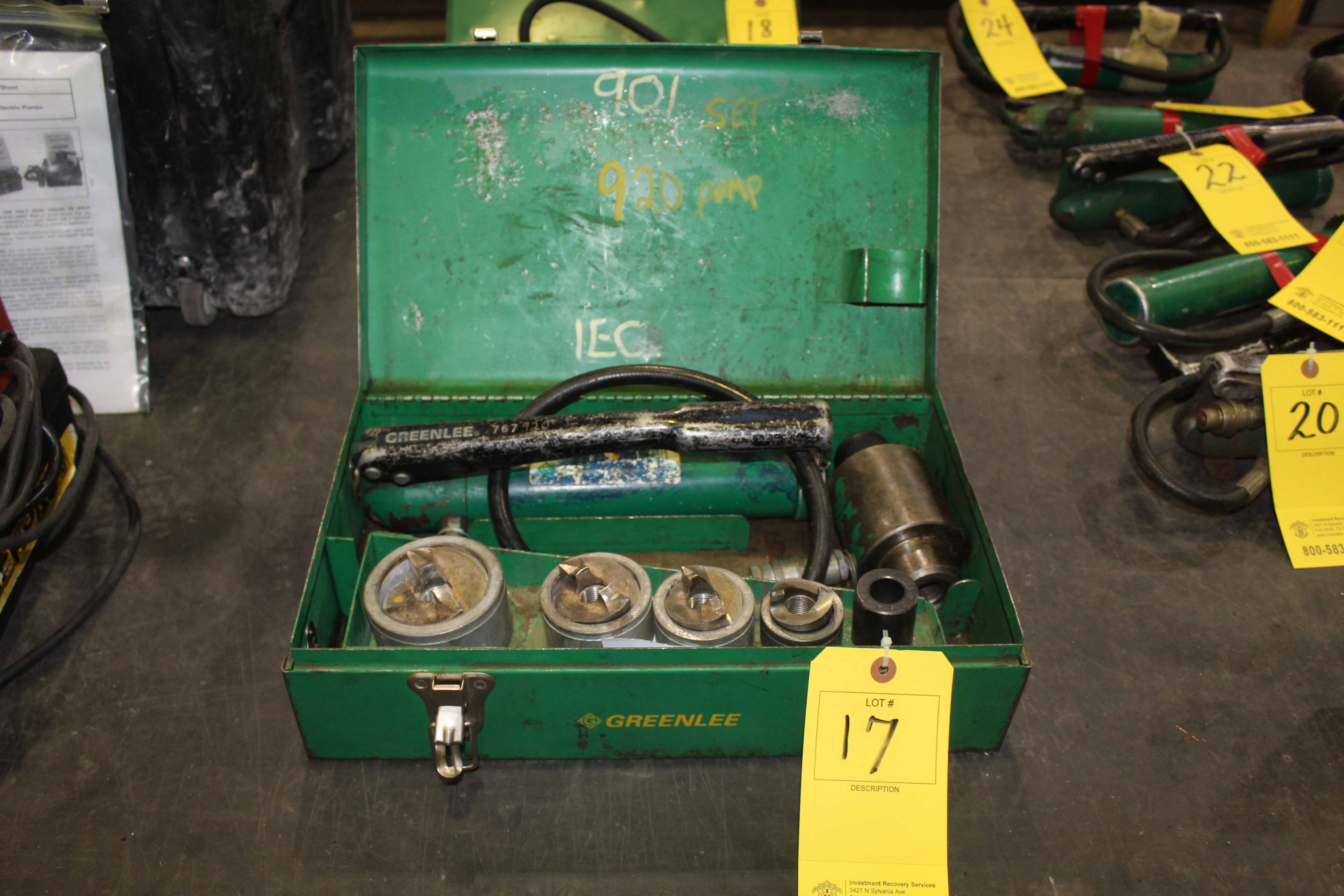 Lot 17 - POWER PUNCH, GREENLEE, w/tooling & case