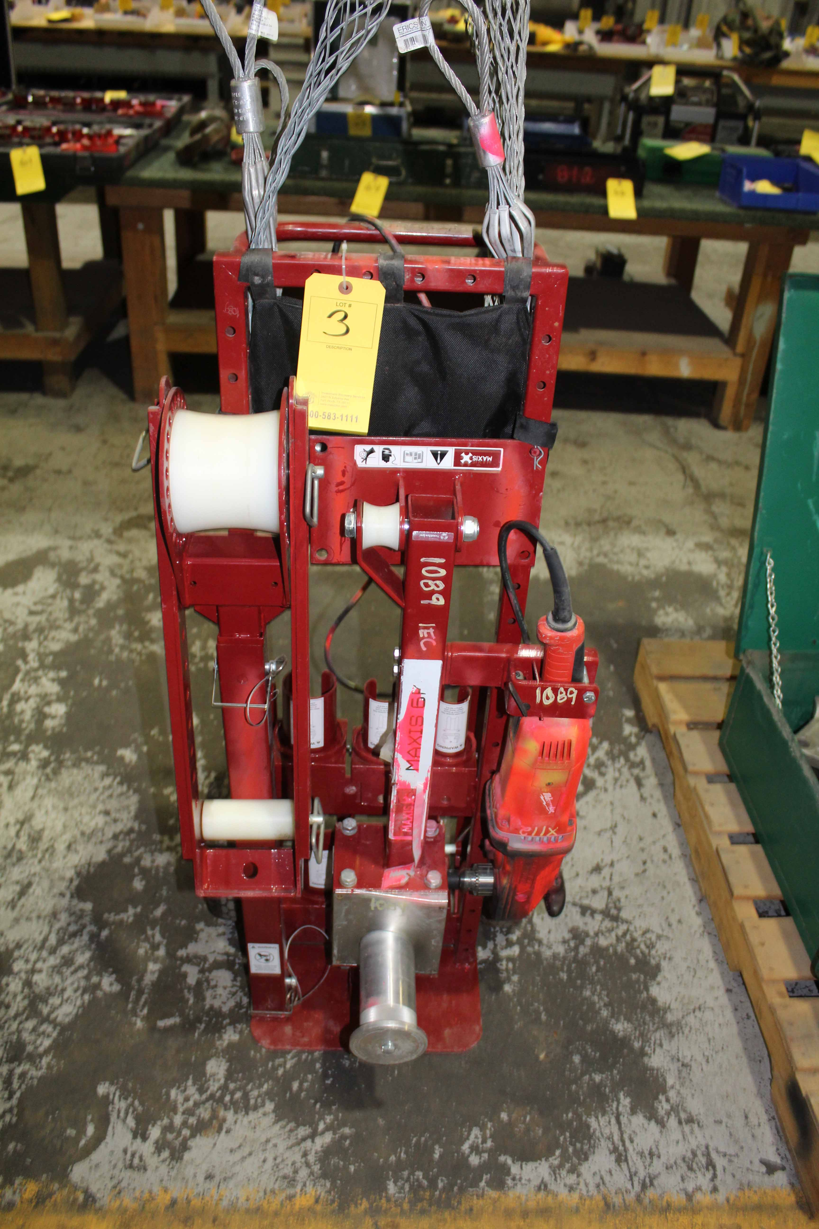 Lot 3 - PORTABLE WIRE COILER, MIXIS MDL. 6K