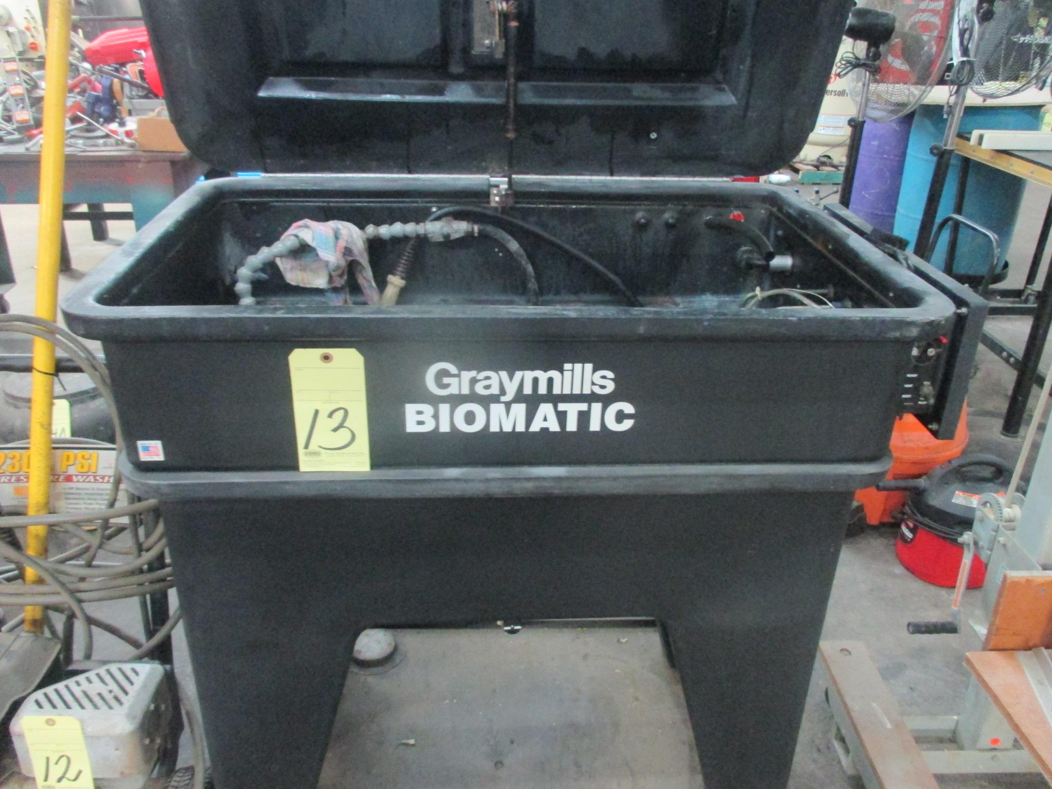 Lot 13 - PARTS WASH TANK, GRAYMILLS BIOMATIC