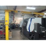 FREE STANDING JIB CRANE, CONTRX ¼ T. CAP. MDL. BMJ360, 300 lb. air operated hoist