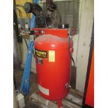 RECIPROCATING TYPE AIR COMPRESSOR, HUSKY, 4 HP motor, 80 gal. vert. tank, 12.2 SCFM @ 90 PSI (