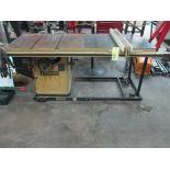 TABLE SAW, POWERMATIC, 5 HP motor