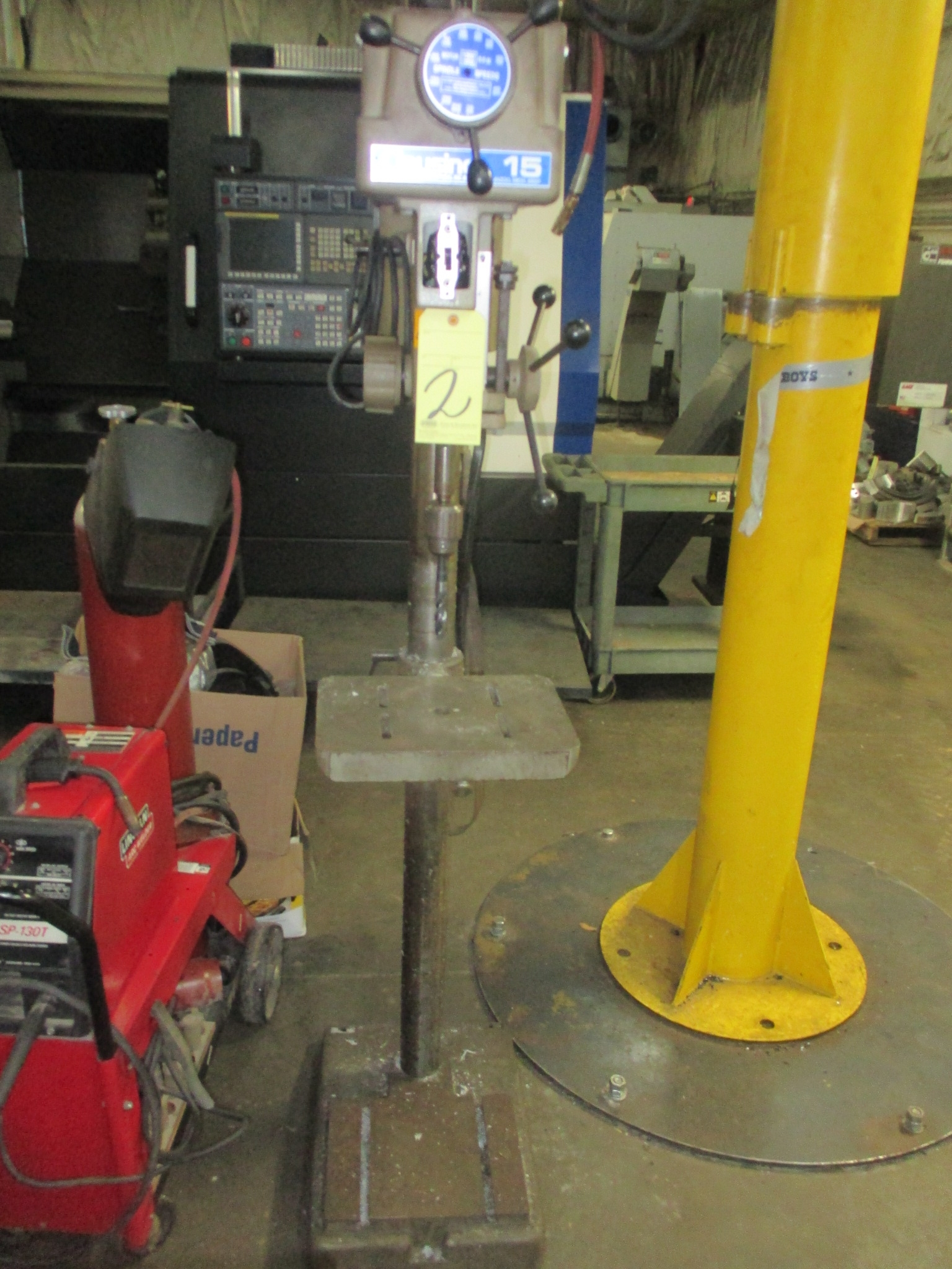 "Lot 2 - PEDESTAL DRILL PRESS, CLAUSING 15"", variable spd."