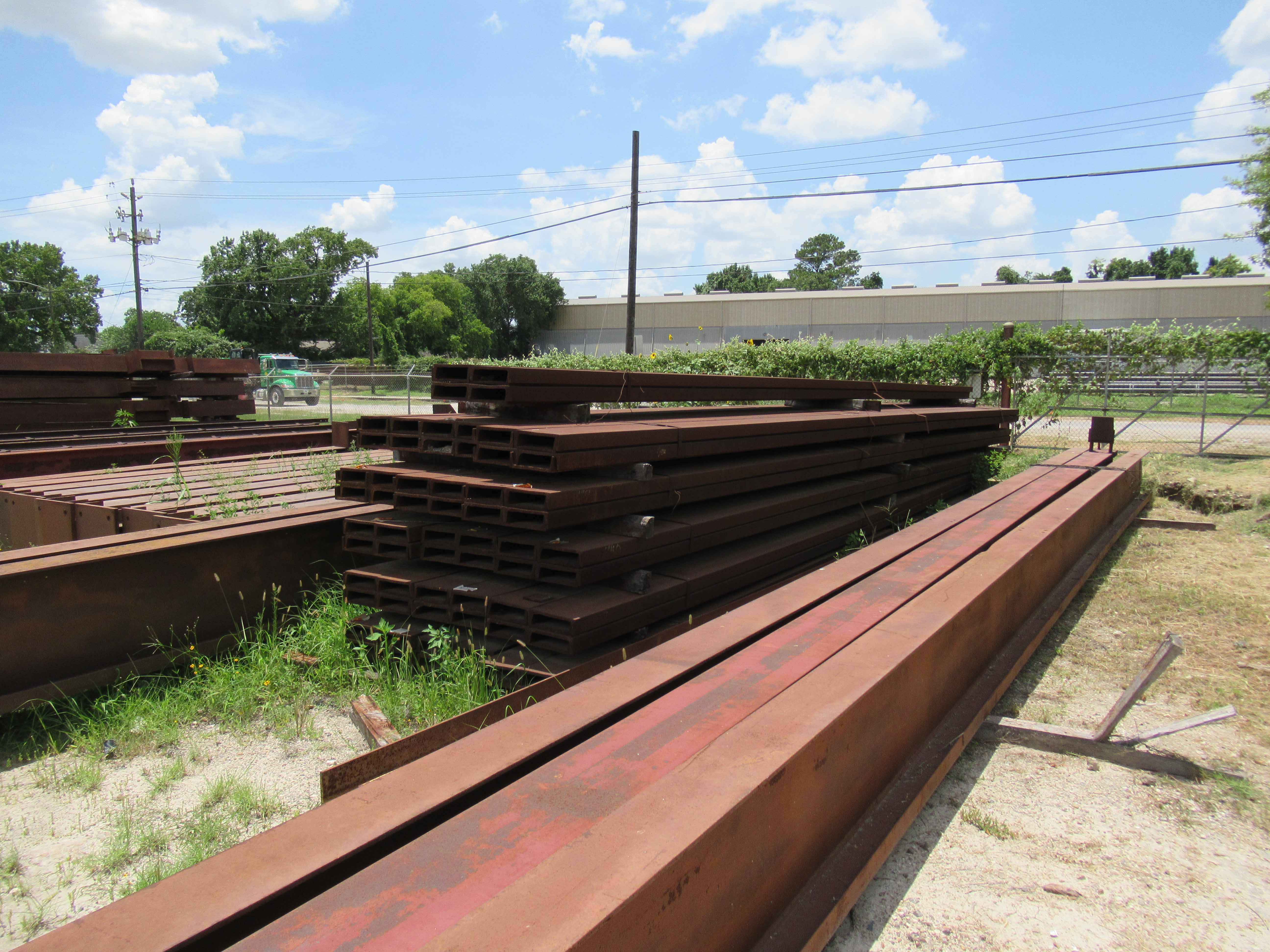 """Lot 14 - C CHANNEL 1,2, AND 3: (128 pieces) of 10"""" channel, 25-lb., 32' long, 52 tons. Seller will load for"""
