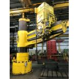"""GIDDINGS & LEWIS BICKFORD 10' X 34"""" RADIAL ARM DRILL, drills to center of 240"""" circle, pendant"""