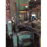 "DOALL MDL. TF-2540 TILT-FRAME VERTICAL BANDSAW, conveyor system, 25"" width x 40"" height capacity,"