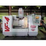 """HAAS MDL. VF-4 CNC VERTICAL MACHINING CENTER, new 1997, Haas CNC control, 18"""" x 52"""" table, 50"""" X-"""