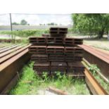 """C CHANNEL 1,2, AND 3: (128 pieces) of 10"""" channel, 25-lb., 32' long, 52 tons. Seller will load for"""