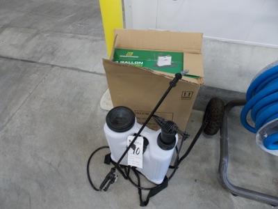 Lot 10 - Greenwood 4Gal. Backpack Sprayer w/ (4) Spray Heads and Spray Wand