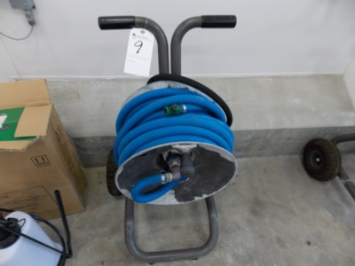 Lot 9 - (Lot) Hose Reel Cart w/ Hose