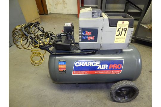 charge air pro 5 hp portable air compressor 20 gallon tank 110 1