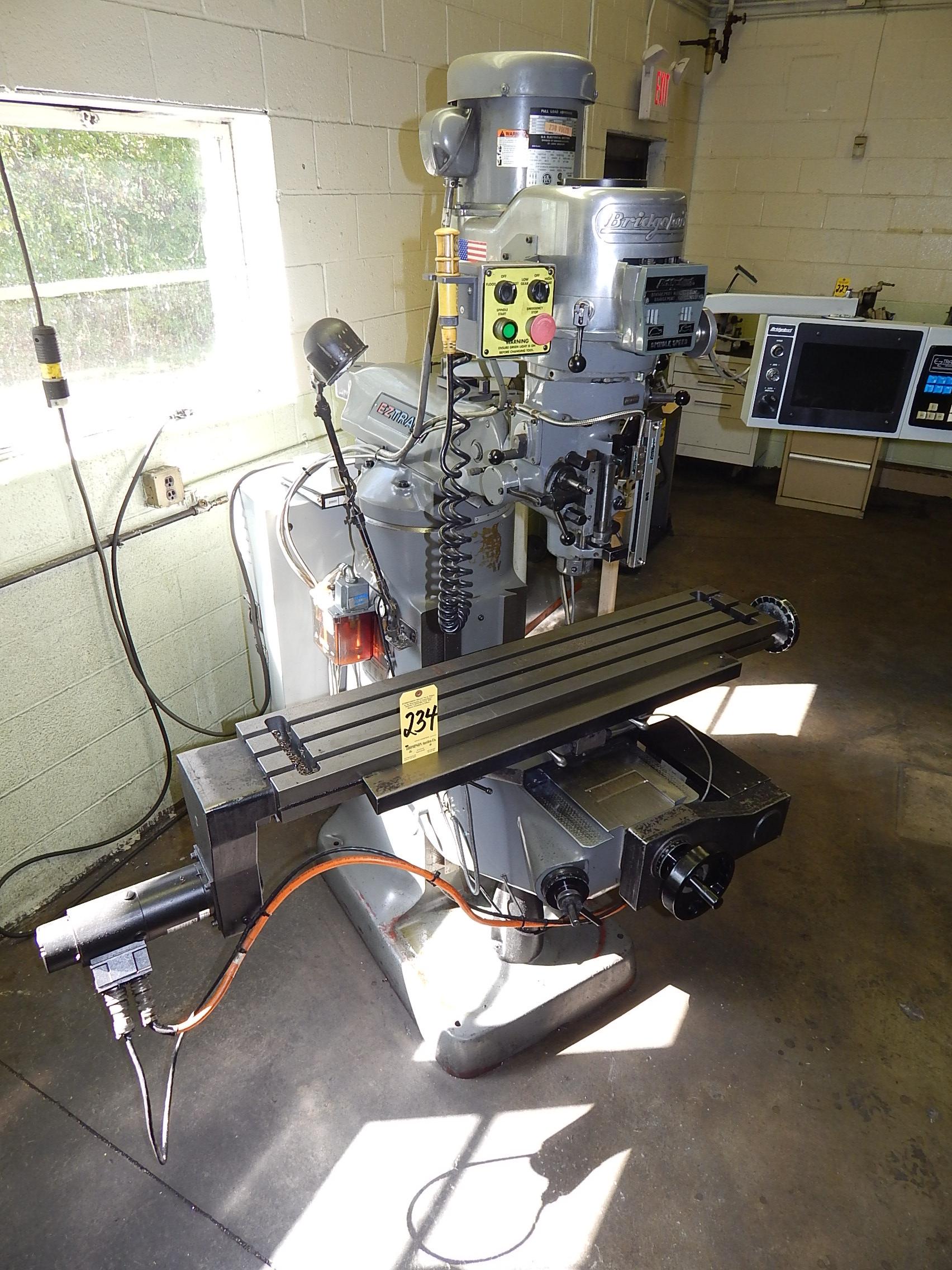 Lot 234 - Bridgeport EZ Trak DX 2-Axis CNC Vertical Mill, s/