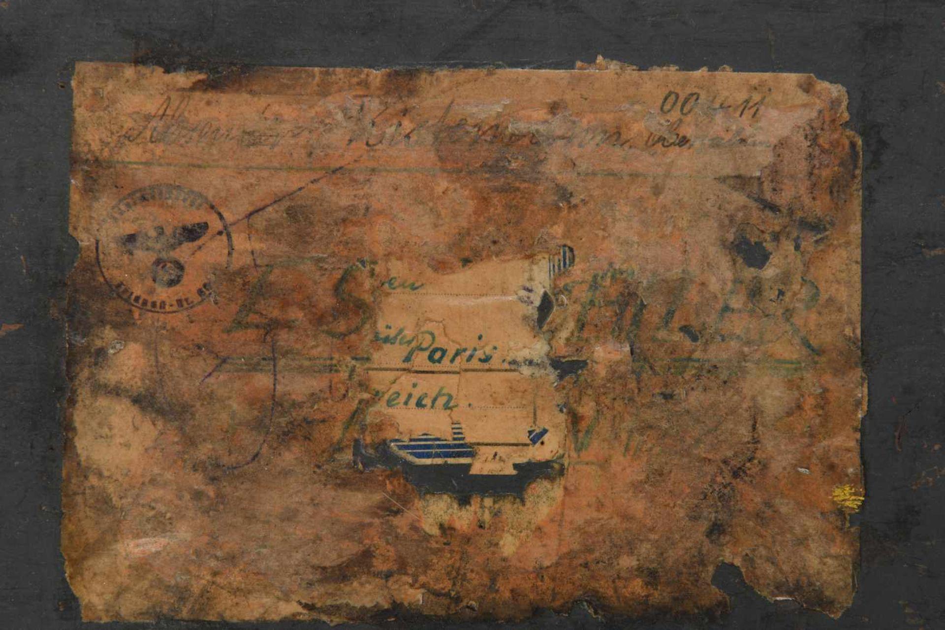 Caisse de trésorier allemand en bois vide, marquages au pochoir «Zahlmeister» et «Z.A.I». - Bild 2 aus 4