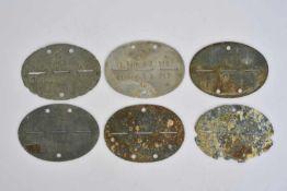 Ensemble de plaque d'identité de la Heer comprenant une plaque en métal de fouille, les marquages