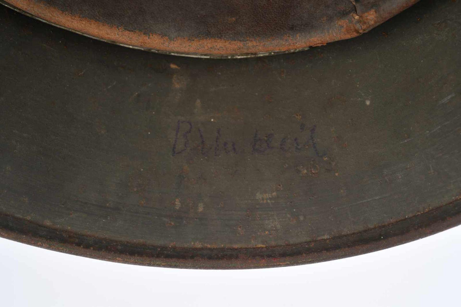 Casque nominatif de la Heer. Coque de casque 40, fabrication «Q62», numéro de lot illisible. - Bild 4 aus 4
