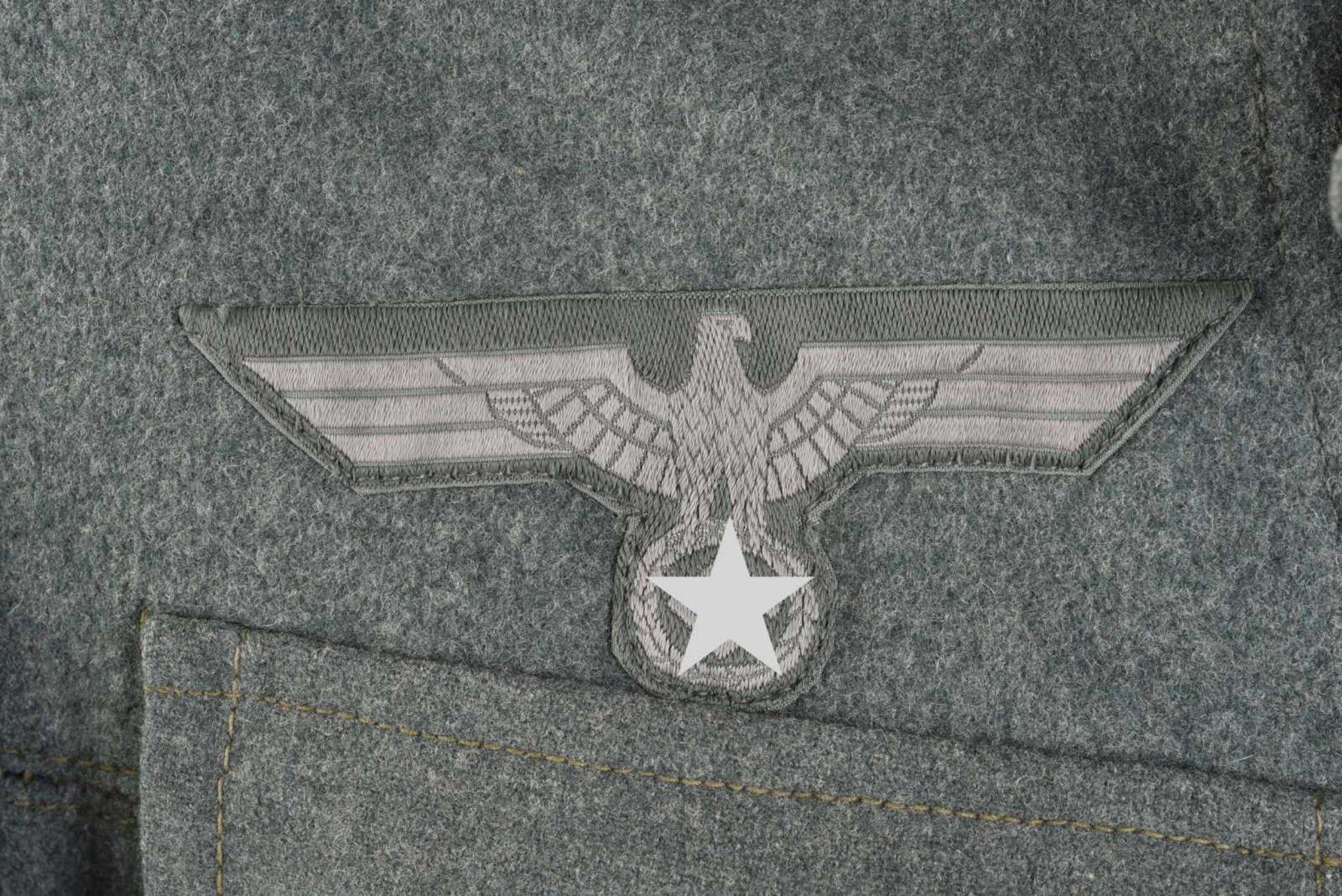 Vareuse d'infanterie de la Heer. En drap Feldgrau, tous les boutons sont présents. Intérieur - Bild 3 aus 4