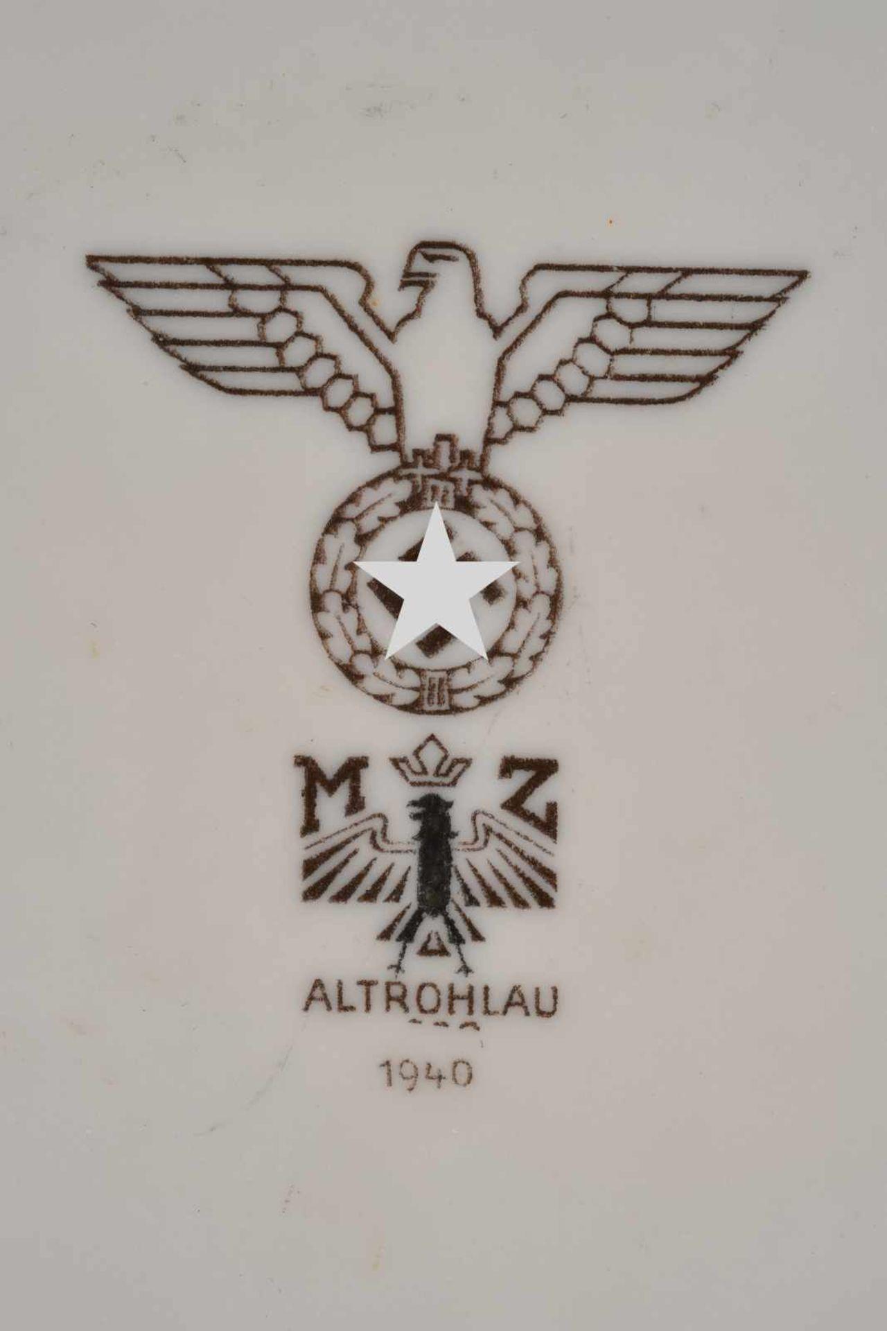 Ensemble de vaisselle de la Heer comprenant un plat oval de fabrication Tielsch Altwasser 1941, - Bild 4 aus 4