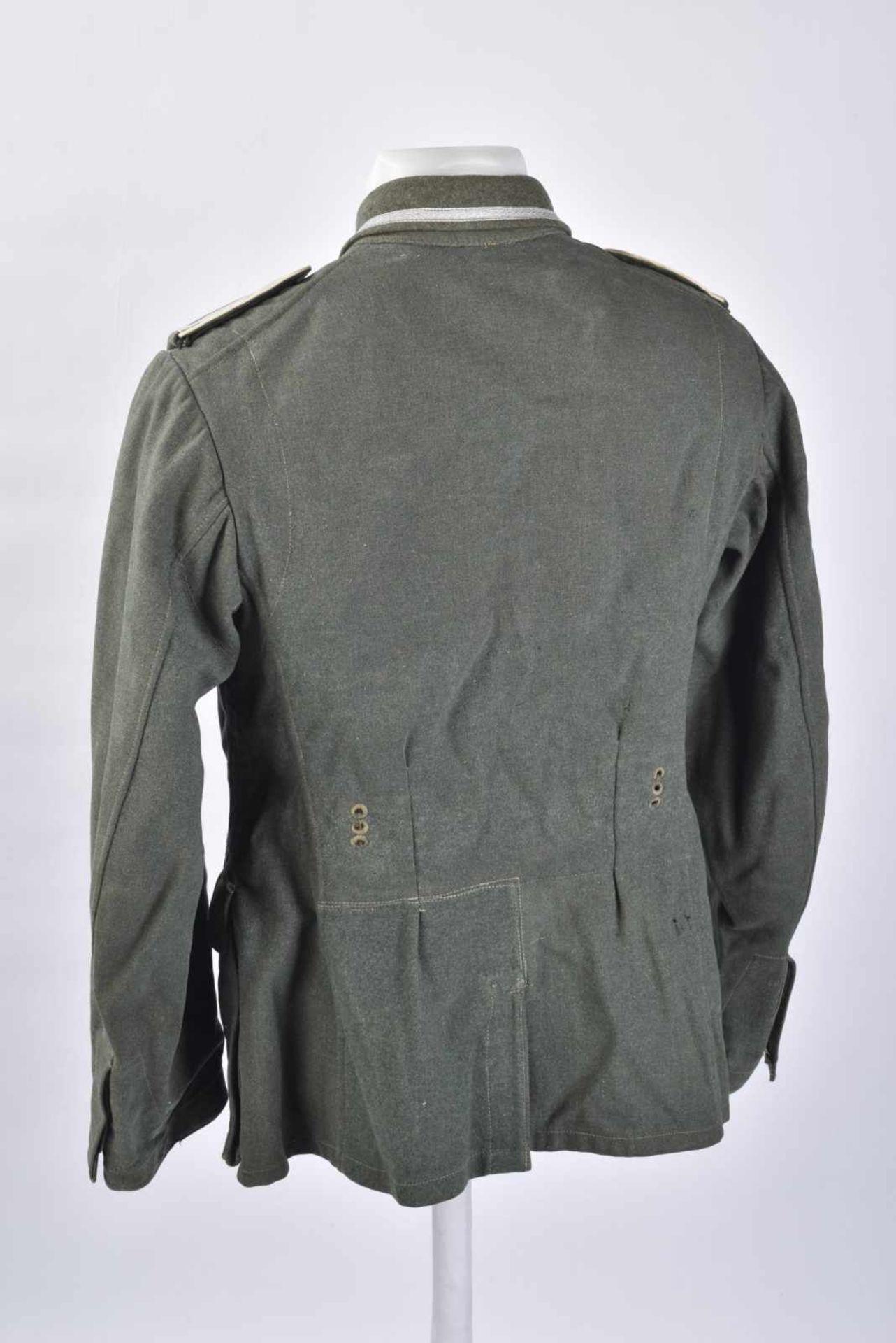 Vareuse d'Unteroffizier de l'infanterie en drap Feldgrau, intérieur doublé en tissu coton marron, - Bild 3 aus 4