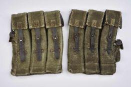 Reproduction de portes chargeurs de Sturmgewehr en épais tissu Felgrau, fermeture des