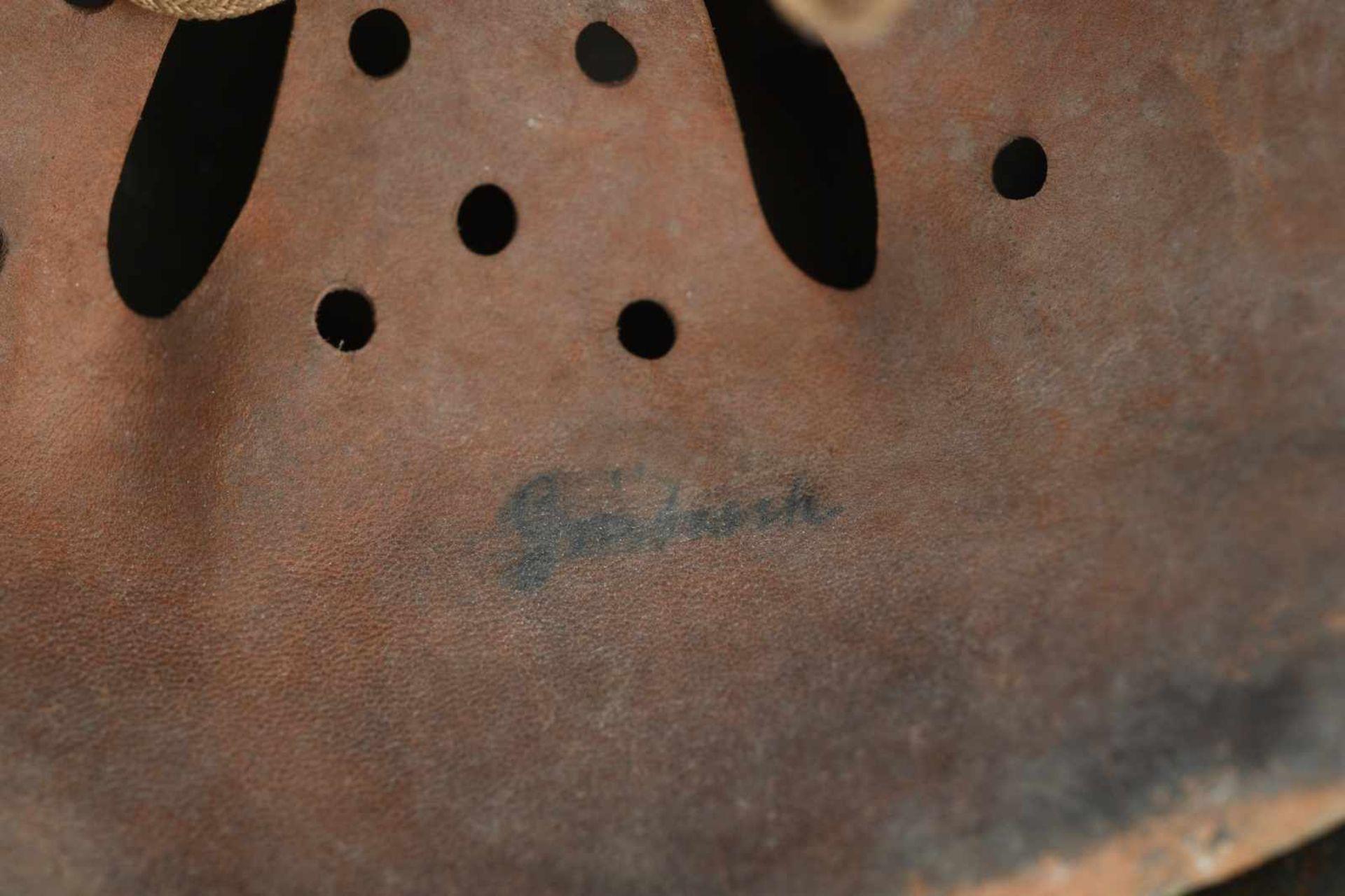 Casque nominatif de la Heer. Coque de casque 40, fabrication «Q62», numéro de lot illisible. - Bild 2 aus 4